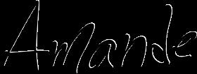 amande logo noir et creme
