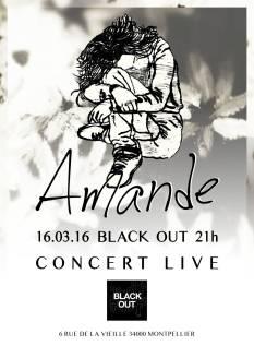 Flyer concert - amande douce amere 16 mars